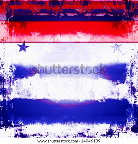 Patriotic Red, White, And Blue Background - stock photo