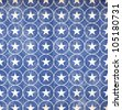 Patriotic Star & Circle Background - Blue - stock photo