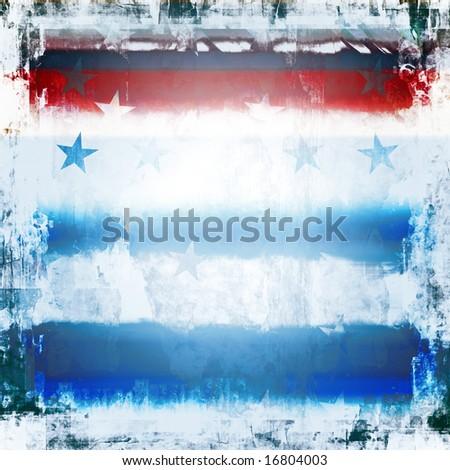 Patriotic Stars And Stripes Grunge - stock photo