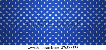 Patriotic US background with stars. Abstract blue background for Memorial Day or 4th of July themes. - stock photo