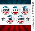 Patriotic Voting Stickers. - stock photo