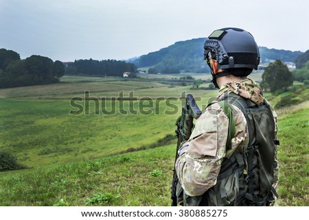 Patrolling the valley - stock photo