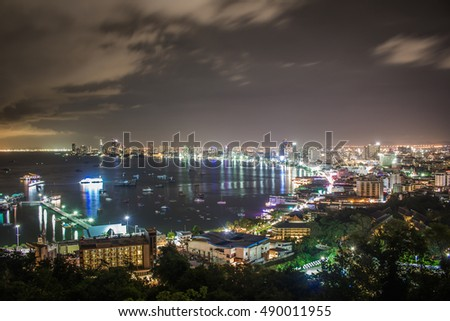 Pattaya City in Thailand.