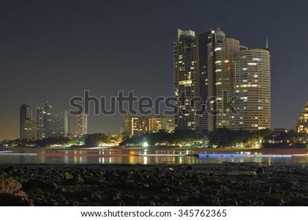 Pattaya cityscape seaside  Thailand. - stock photo