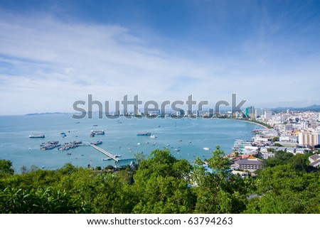 Pattaya From Above, Thailand - stock photo