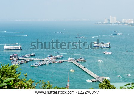 Pattaya Harbor. - stock photo