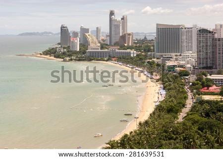 Pattaya skyline - stock photo