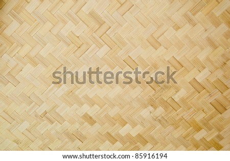 Pattern and design of Thai style bamboo handcraft - stock photo