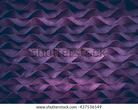 Pattern and texture from wave filter paper
