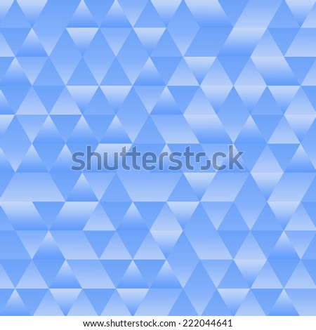 Pattern background blue triangle