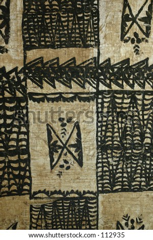 pattern/background of hawaiian tapa - stock photo