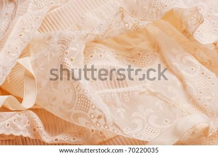 pattern beautiful beige gentle lace - stock photo