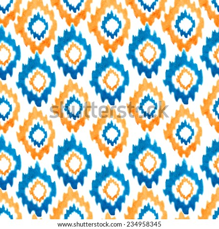 pattern, bright, watercolor - stock photo