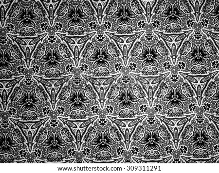 Pattern cloth black and white