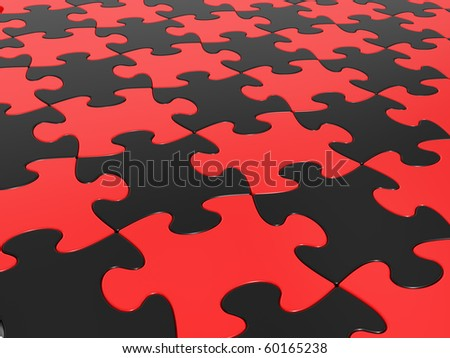 Pattern collected from a considerable quantity of puzzles - stock photo