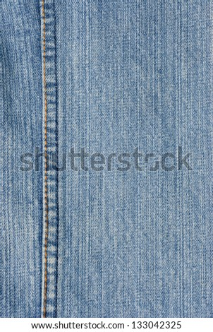 Pattern denim fabrics with seams. - stock photo