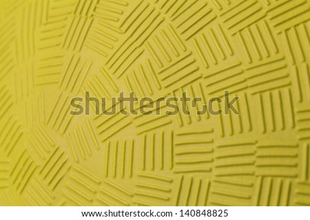 Pattern Design of Yellow Rubber Ball. - stock photo