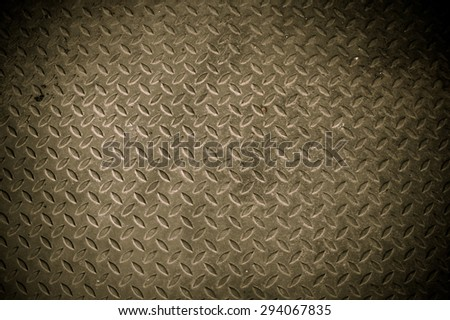 Pattern diamond metal plate ,A diagonal pattern on  retro metal texture background - stock photo