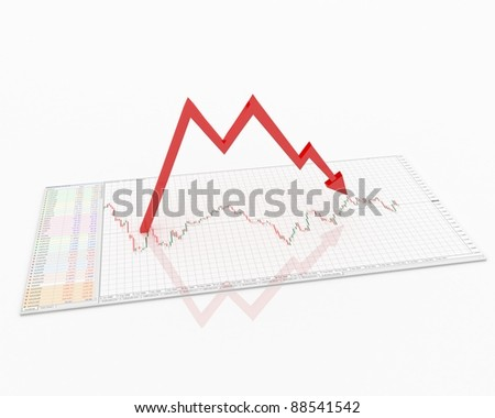 """Pattern """"Double top"""" - stock photo"""