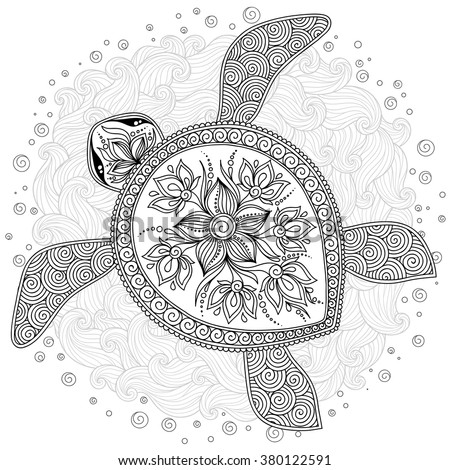 turtle coloring pages for adults - tortoise colored stock images royalty free images