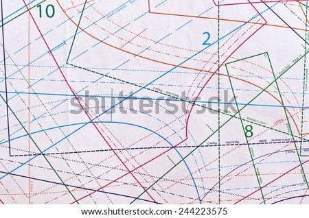 Pattern for sewing. The back burner. Abstract background. - stock photo