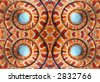 Pattern from coils of a corn snake - stock photo