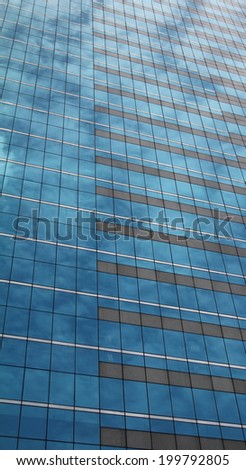 pattern glass window of office building