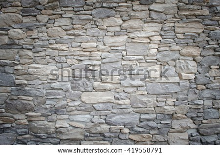 gray stone design old faux stacked grey stone wall stock photo 736419550 shutterstock
