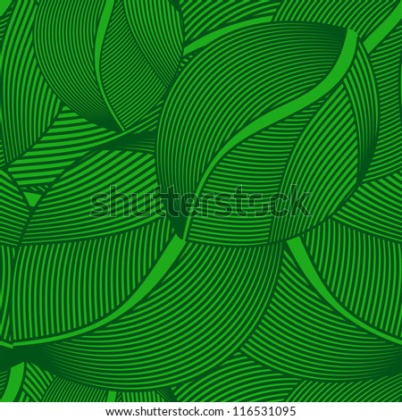 pattern - green leaf seamless - stock photo