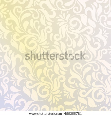 pattern in Arabic style. Intersecting curved elegant stylized leaves and scrolls forming abstract floral ornament. Arabesque.