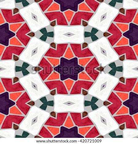 pattern kaleidoscopically. pattern ornament. background ornament.  seamless texture. seamless pattern. pattern tile. glass mosaic. mosaic pattern. geometric pattern, texture wallpaper - stock photo