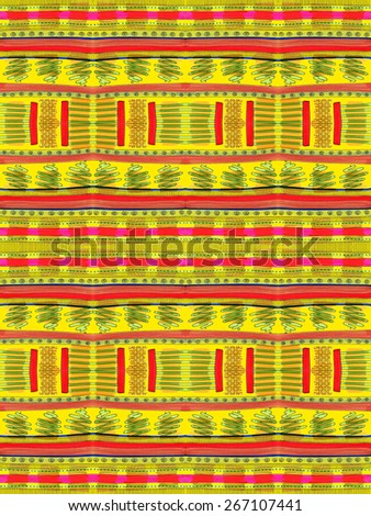 Pattern kid drawing like abstract shapes geometrical black lines yellow background decorative stripes happy LARGE L