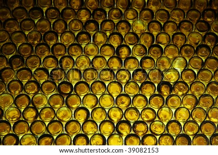 pattern made out of brown bottles