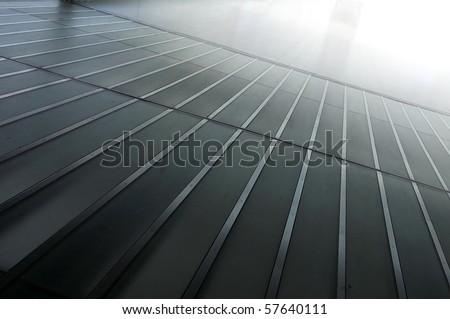 Pattern of a metallic floor - stock photo