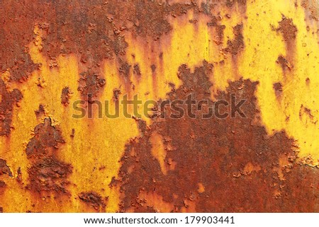 Pattern of a rough surface of rusty metal - stock photo