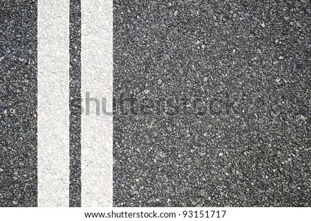 Pattern of asphalt texture with two lines