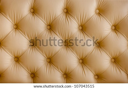 Pattern of beige leather structure - stock photo