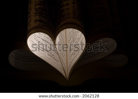 Pattern of Bible pages - stock photo