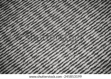Pattern of black and white stripes diagonal line in fabric textile - stock photo