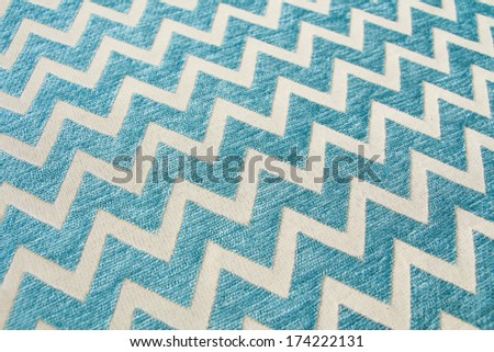 Pattern of blue and white striped silk glides