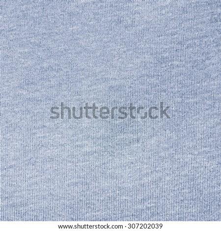 Pattern of blue cotton fabric surface - stock photo