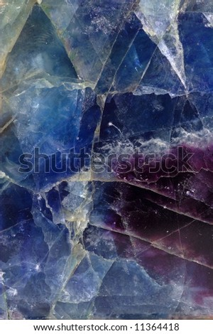 Pattern of blue-violet fluorite mineral - stock photo