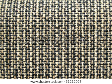 Pattern of brown and black fibers. - stock photo