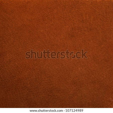 Pattern of brown leather surface - stock photo