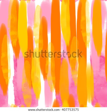 Pattern of brushstroke (yellow and orange color) - stock photo