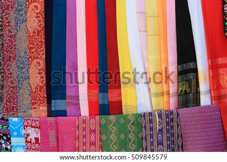 pattern of cloth fabric Laos