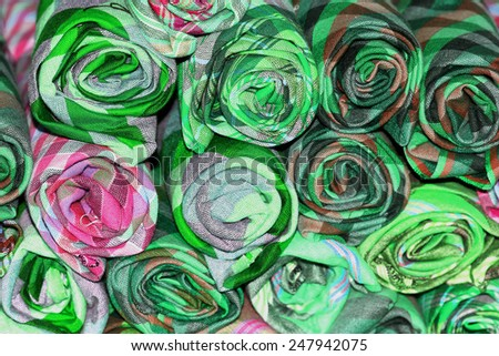 pattern of cloth fabric Thai  - stock photo