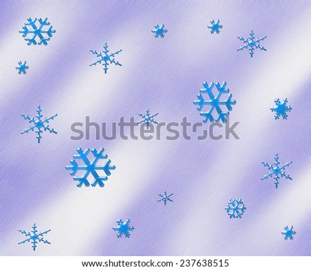 Pattern of different snowflake illustration. - stock photo