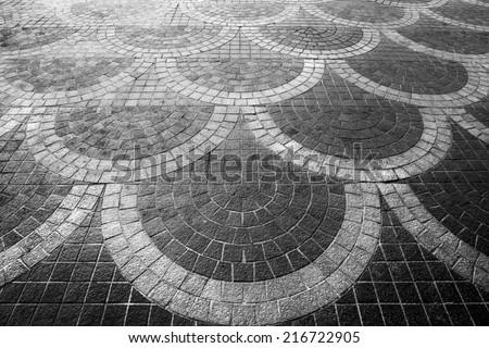 Pattern of floor tiles. - stock photo