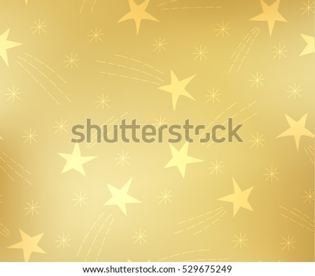Pattern of flying stars. Celebratory pattern with snowflakes and Christmas star